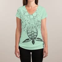 Into the Sea... - womens-sublimated-v-neck - small view