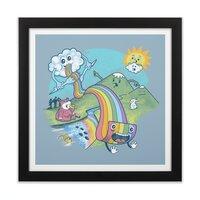 Rainbow Pasta - black-square-framed-print - small view