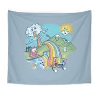 Rainbow Pasta - indoor-wall-tapestry - small view