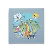 Rainbow Pasta - square-stretched-canvas - small view