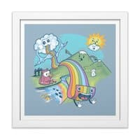 Rainbow Pasta - white-square-framed-print - small view