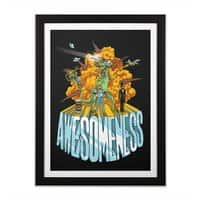 AWESOMENESS - black-vertical-framed-print - small view