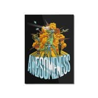 AWESOMENESS - vertical-mounted-aluminum-print - small view
