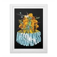 AWESOMENESS - white-vertical-framed-print - small view
