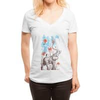 A Happy Place - womens-deep-v-neck - small view