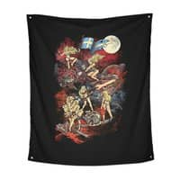 SWEDISH BIKINI WEREWOLF DESTRUCTION UNIT - indoor-wall-tapestry-vertical - small view