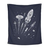Space Race - indoor-wall-tapestry-vertical - small view
