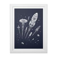 Space Race - white-vertical-framed-print - small view