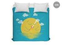 Partly Cloudy - duvet-cover - small view