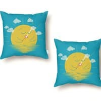 Partly Cloudy - throw-pillow - small view