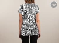 Ugly Drawings - womens-sublimated-v-neck - small view