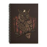 Mechanic-owl King - spiral-notebook - small view