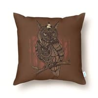 Mechanic-owl King - throw-pillow - small view