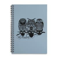 Owls of the Nile - spiral-notebook - small view