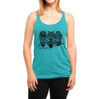 Owls of the Nile - womens-triblend-racerback-tank - small view
