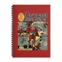 Captain Obvious! - spiral-notebook - small view