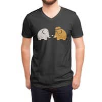 Mammoths were Hippies - vneck - small view