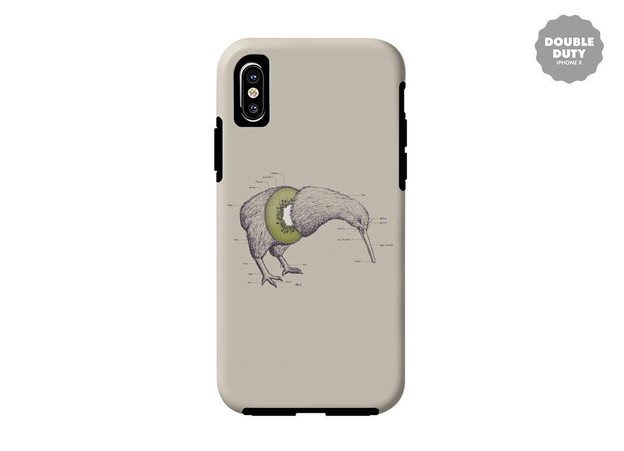 Kiwi Anatomy by William McDonald | Double Duty Phone Case Threadless