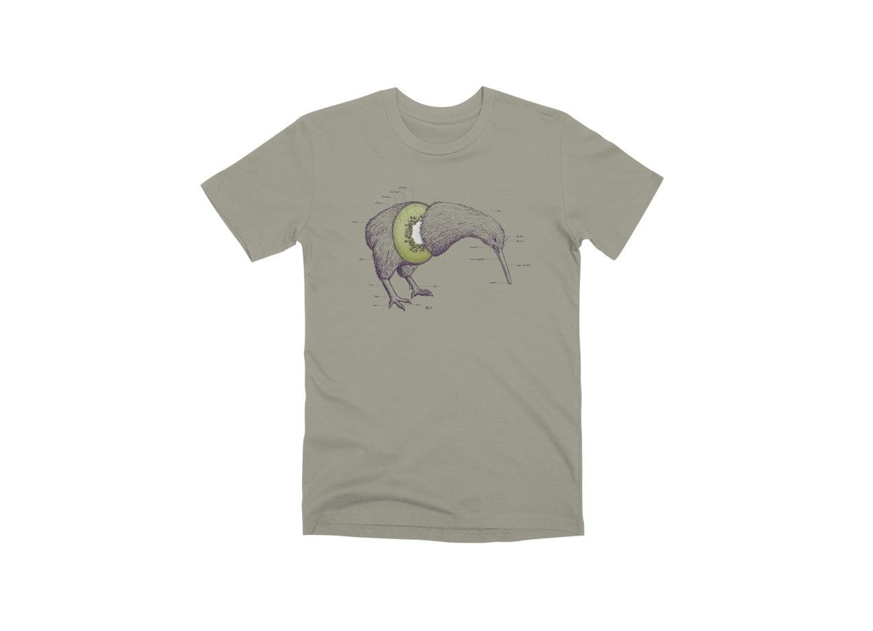 da259368f30b Kiwi Anatomy by William McDonald | Men's T-Shirt Threadless
