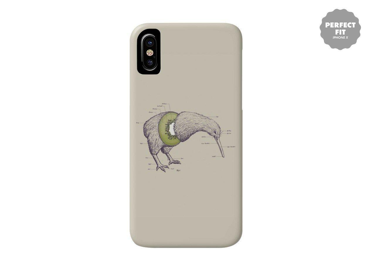 Kiwi Anatomy by William McDonald | Perfect Fit Phone Case Threadless