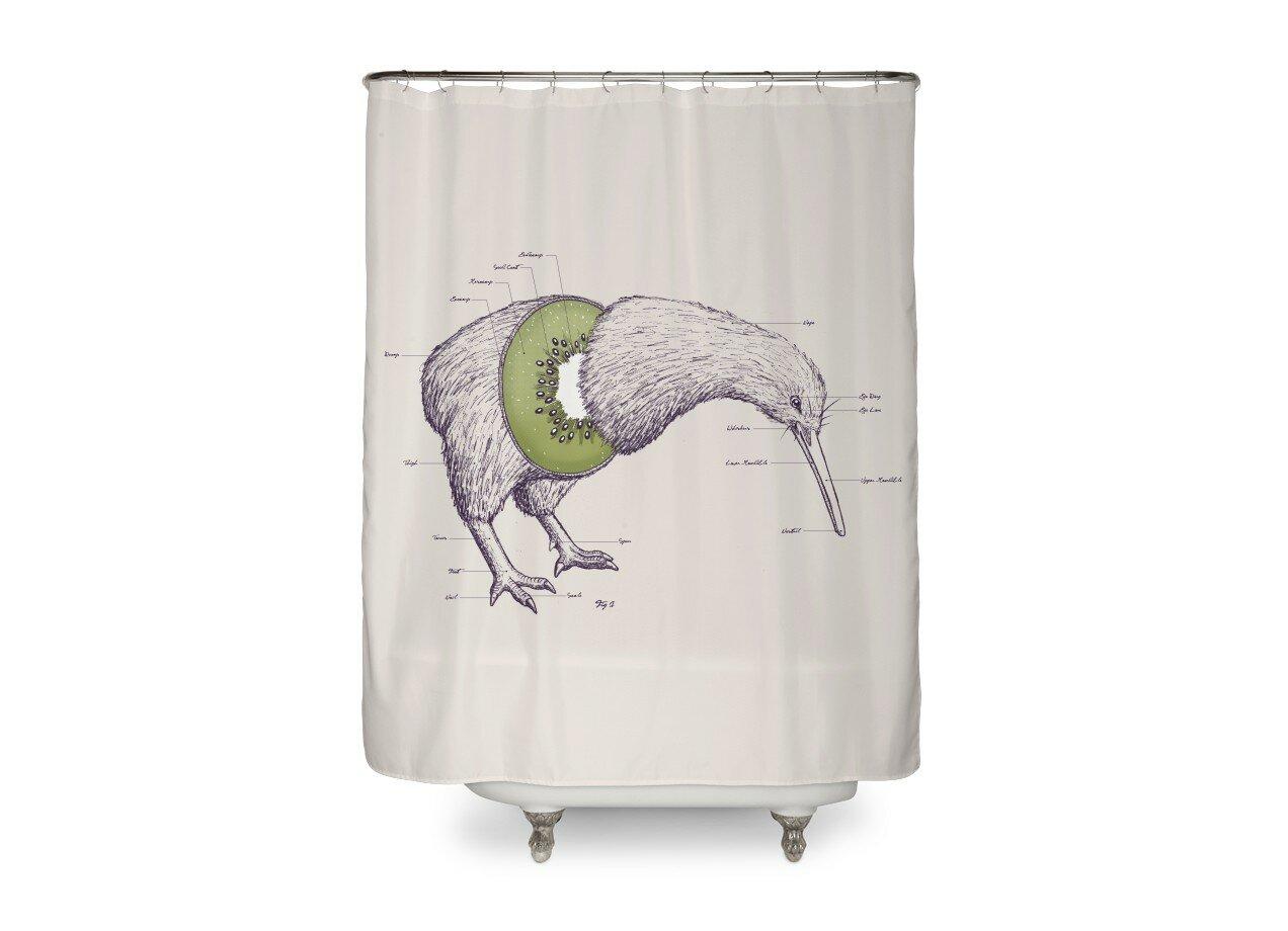 Kiwi Anatomy by William McDonald   Shower Curtain Threadless