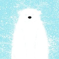 It's a Polar Bear Blinking in a Blizzard - small view