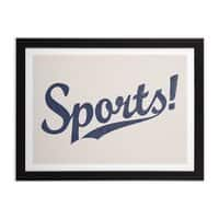 Sports! - black-horizontal-framed-print - small view