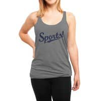 Sports! - womens-triblend-racerback-tank - small view