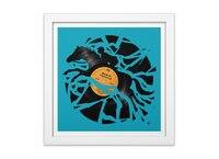 Disc Jockey - white-square-framed-print - small view