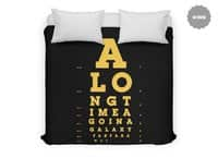 This Is Not the Eye Chart You're Looking For. - duvet-cover - small view