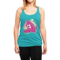 The Curse of the Care Were! - womens-triblend-racerback-tank - small view
