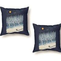 If On A Winter's Night... - throw-pillow - small view