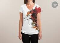 Lady Fox - womens-sublimated-v-neck - small view