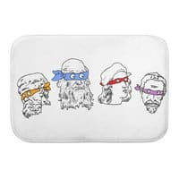 Heroes In An Art Shell - bath-mat - small view