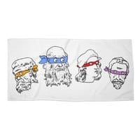 Heroes In An Art Shell - beach-towel-landscape - small view