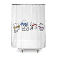 Heroes In An Art Shell - shower-curtain - small view
