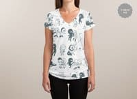 Pop Culture Clash - womens-sublimated-v-neck - small view