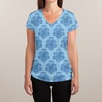 TARDamask - womens-sublimated-v-neck - small view