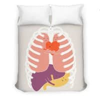 Hugs Keep Us Alive! - duvet-cover - small view