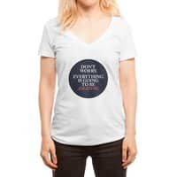 Don't Worry Everything Is Going To Be Amazing - womens-deep-v-neck - small view