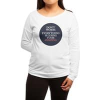 Don't Worry Everything Is Going To Be Amazing - womens-long-sleeve-terry-scoop - small view