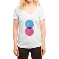 Hell Maybe - womens-deep-v-neck - small view
