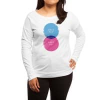 Hell Maybe - womens-long-sleeve-terry-scoop - small view