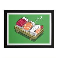 Sushi - black-horizontal-framed-print - small view