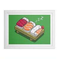 Sushi - white-horizontal-framed-print - small view