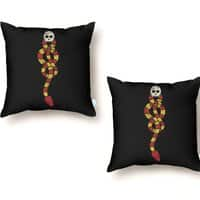 The Dark Scarf - throw-pillow - small view