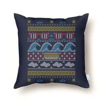Ugly Summer Sweater - throw-pillow - small view