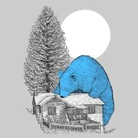 The Gigantic Blue Bear of Portola - small view