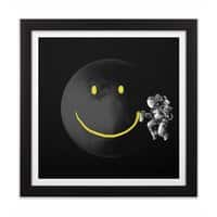 Make a Smile - black-square-framed-print - small view
