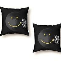 Make a Smile - throw-pillow - small view